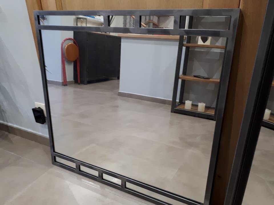 Miroir style industriel dcis design for Miroir style