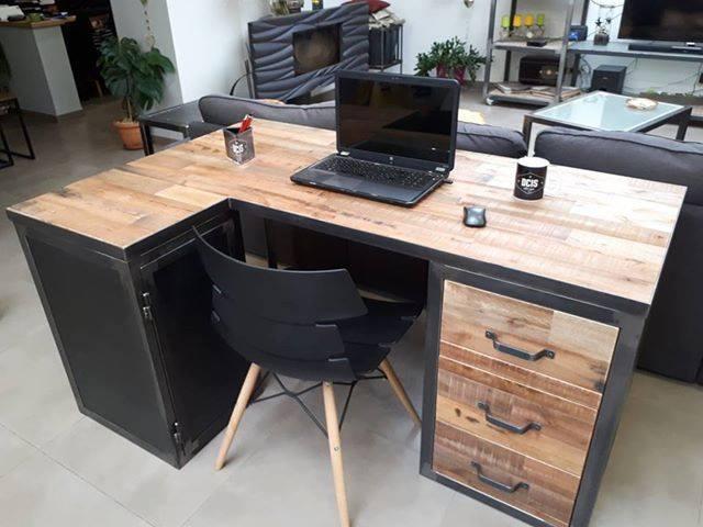 Bureau palettes dcis design - Bureau en palette ...
